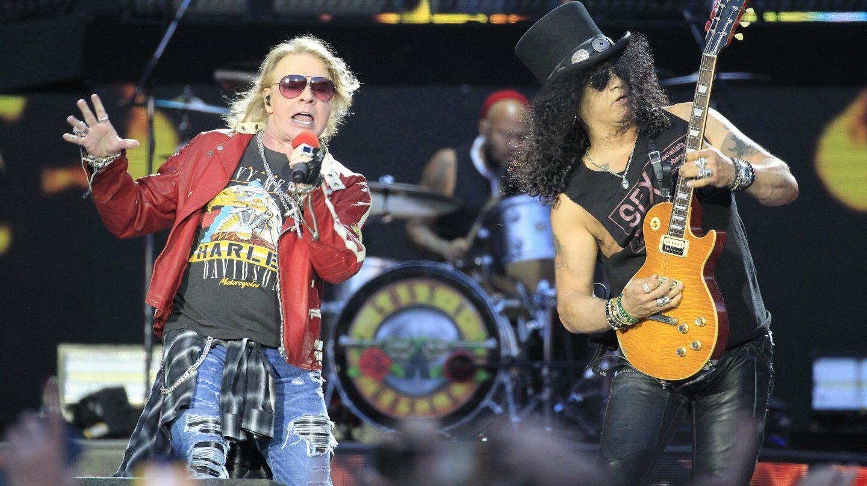 EL grupo Guns & Roses en el Calderón el pasado domingo.