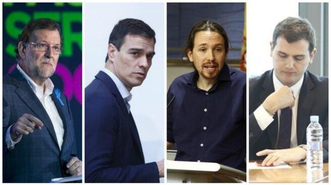 Mariano Rajoy (PP), Pedro Sánchez (PSOE), Pablo Iglesias (Podemos) y Albert Rivera (Ciudadanos).