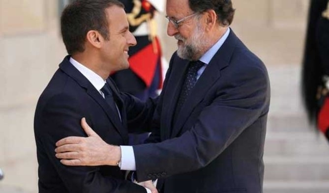 Macron y Rajoy el pasado viernes en París