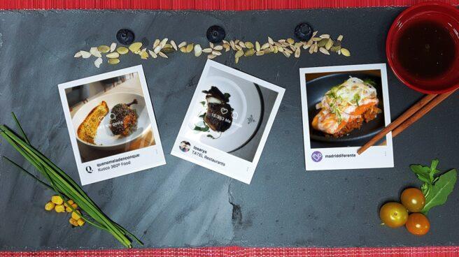 Polaroids con comida