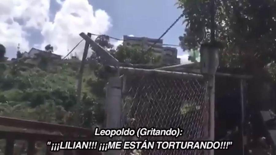Fotograma del vídeo difundido por Lilian Tintori, mujer de Leopoldo López.