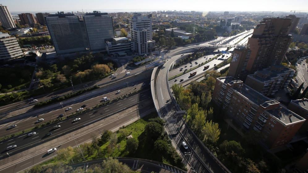 Uno de los nudos de la M-30, la infraestructura más cara de España.