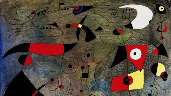 """El cuadro de Joan Miró """"Femme et oiseaux""""."""