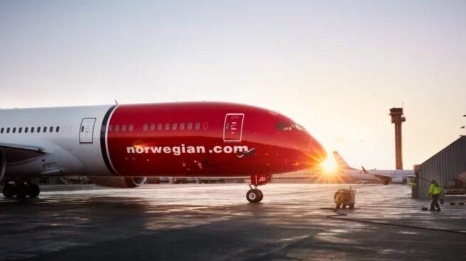 Un avión del grupo aéreo Norwegian.