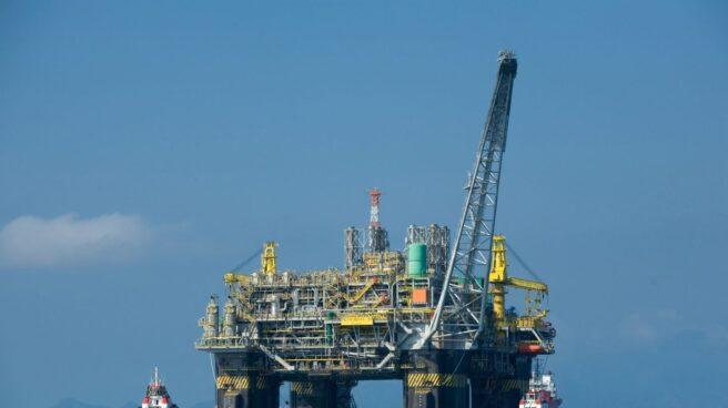 Planta de extracción de petróleo.