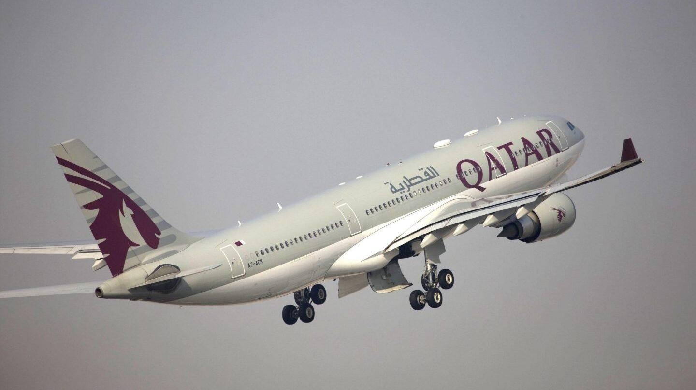 Un avión de la flota de Qatar Airways.