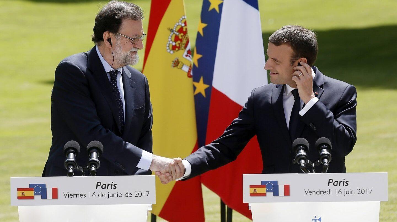 Mariano Rajoy y Emmanuel Macron.