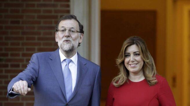 Mariano Rajoy y Susana Díaz en una reunión en Moncloa