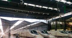 Trenes de AVE de Renfe en la estación de María Zambrano, en Málaga.