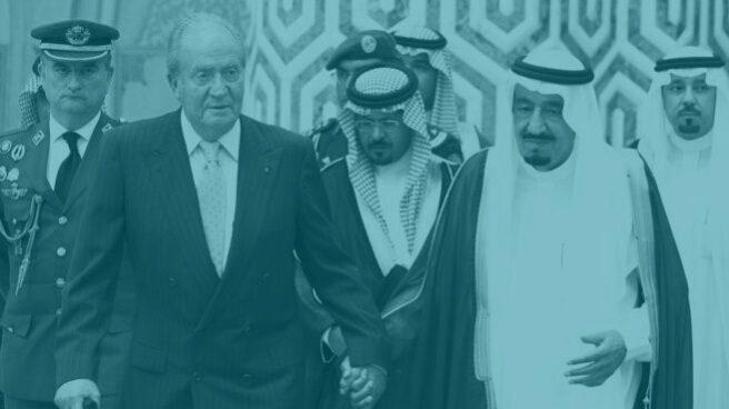 Rey Juan Carlos junto al rey de Arabia Saudí.