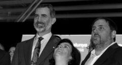 El Rey Felipe VI, Soraya Sáenz de Santamaría y Oriol Junqueras.