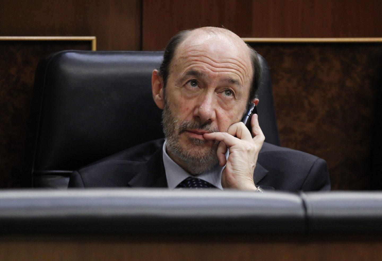 El ex secretario general socialista, Alfredo Pérez Rubalcaba, en el Congreso.