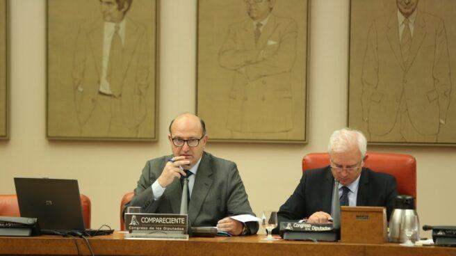 Ramón Álvarez de Miranda, presidente del Tribunal de Cuentas, en el Congreso.