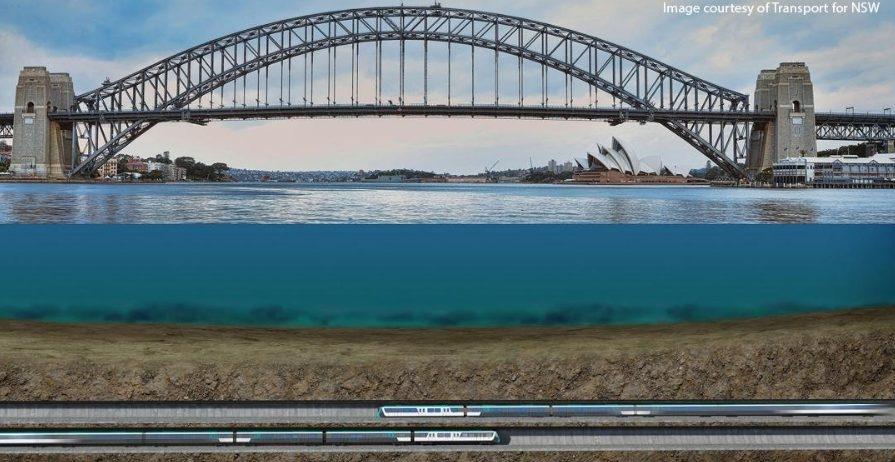 Recreación de las obras de la nueva línea de metro que construirá ACS en Sidney.
