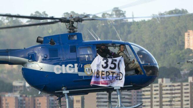 Helicóptero robado desde el que se realizaron los disparos.