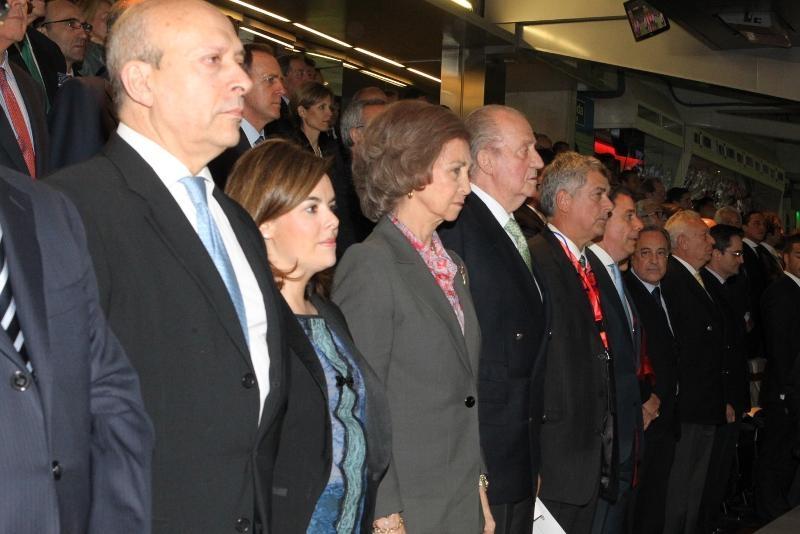José Ignacio Wert, Soraya Sáenz de Santamaría, Doña Sofía, Don Juan Carlos, Ángel María Villar, Ignacio González y Florentino Pérez.