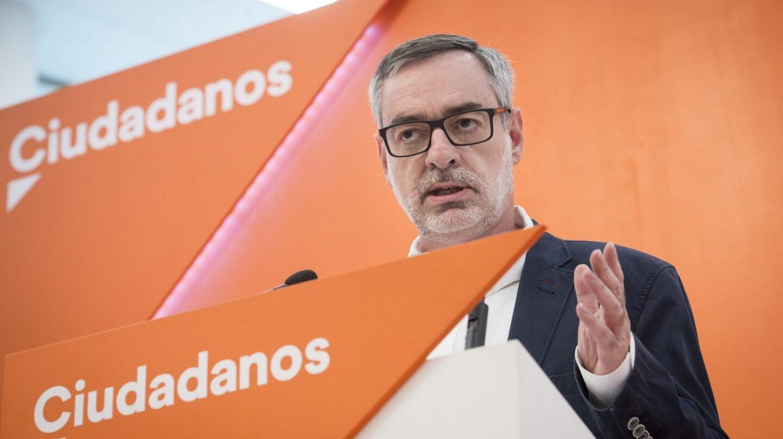 El secretario general de Ciudadanos, José Manuel Villegas, en la sede madrileña.