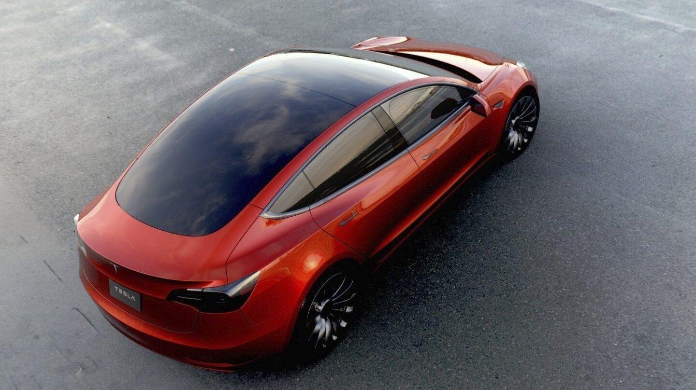 Así es el Model 3 de Tesla.