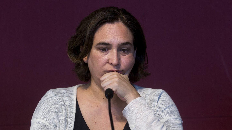 La alcaldesa de Barcelona, Ada Colau, durante una comparecencia ante los medios.