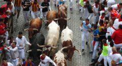 Los toros de Jandilla corren un encierro rápido sin heridos de asta