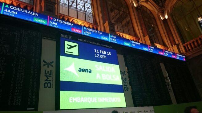 La evolución en bolsa de Aena ha generado notables ganancias al Estado.