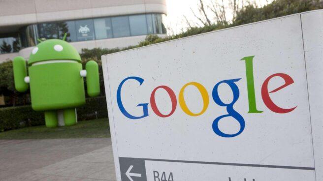 Sede de Google, con el logo de Android.