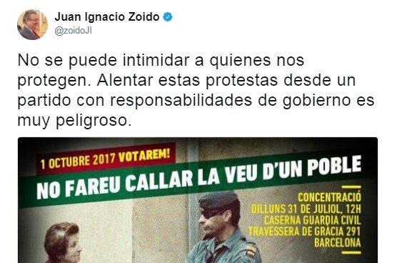 Convocatoria de la CUP contra la Guardia Civil.