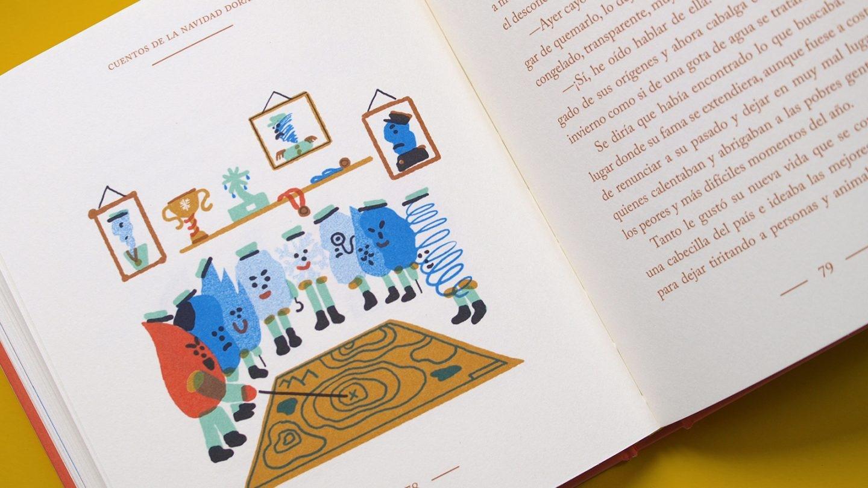 Cuentos de la Navidad dorada', de Carlos López; ilustraciones de Olga Capdevila. Editado por Fulgencio Pimentel.