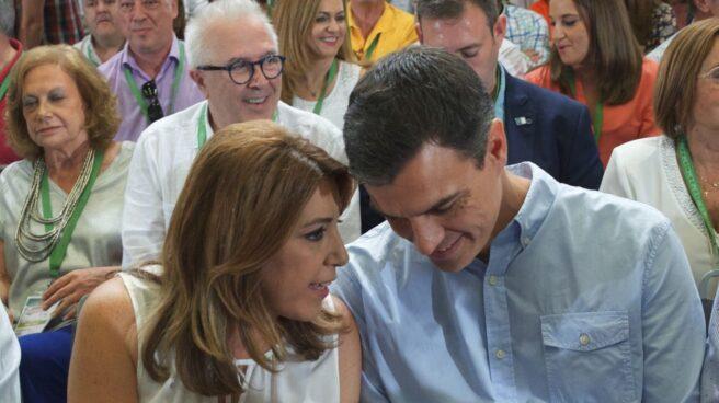 Susana Díaz y Pedro Sánchez, en el Congreso del PSOE de Andalucía.