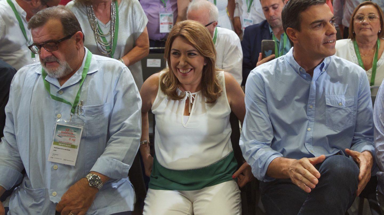 Susana Díaz y Pedro Sánchez en la clausura del congreso del PSOE-A en Sevilla.
