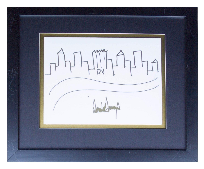 EL dibujo a subasta de Donald Trump.