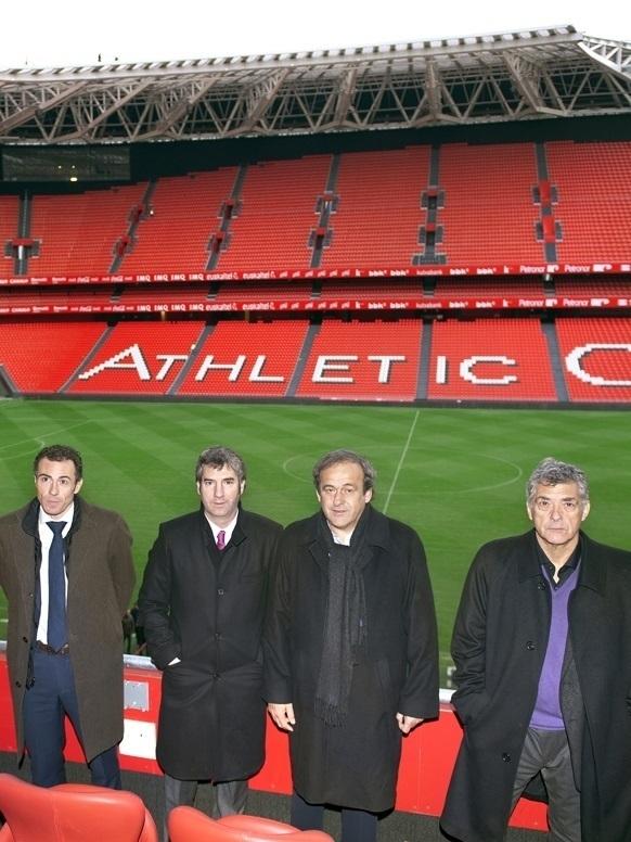 Ángel María Villar y el ex presidente de la UEFA, Michel Platini.
