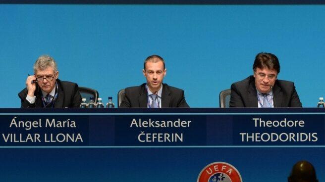 Ángel María Villar, en una reunión de la UEFA, organismo del que fue presidente en funciones.