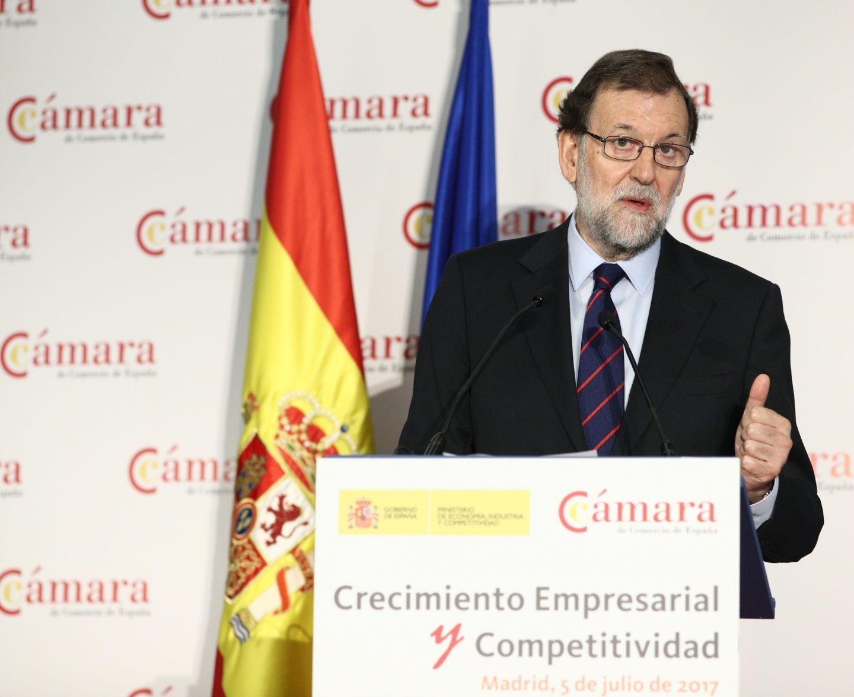 Mariano Rajoy, en la Cámara de Comercio.