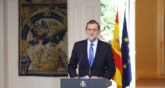 Mariano Rajoy despide el curso en la Moncloa.
