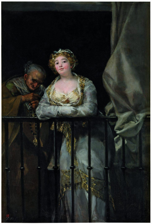 Francisco de Goya y Lucientes (1746-1828) Maja y celestina al balcón