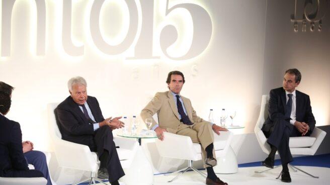 Gonzalez, Aznar y Zapatero, en el acto de Vocento.