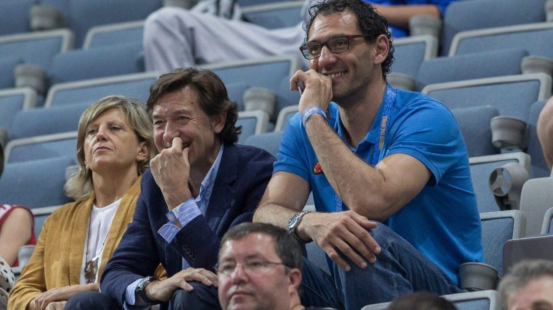 José Ramón Lete y Jorge Garbajosa, en el reciente Europeo de Baloncesto Femenino disputado en Praga.