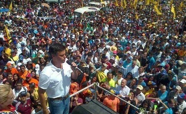 Leopoldo López, en un mitin.