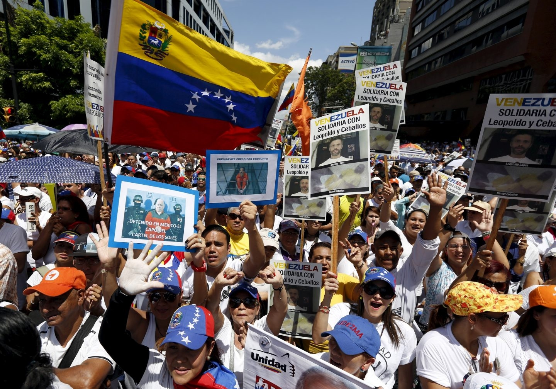 Manifestación a favor de la liberación de Leopoldo López y el resto de presos políticos en Venezuela.