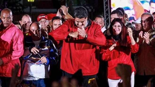 Maduro celebra las elecciones a la Constituyente en Caracas.