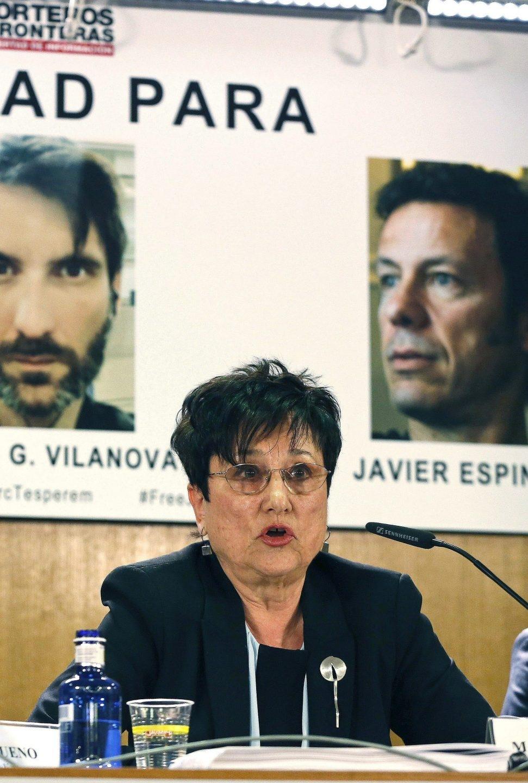 La presidenta de Reporteros Sin Fronteras en España, Malén Aznárez.