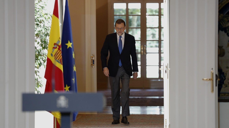 Mariano Rajoy, en su despedida del curso en Moncloa.