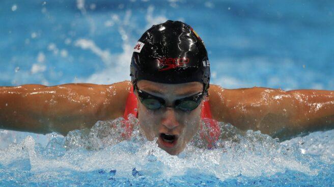 Mireia Belmonte, en la clasificación de 400 estilos en el Mundial de Budapest.