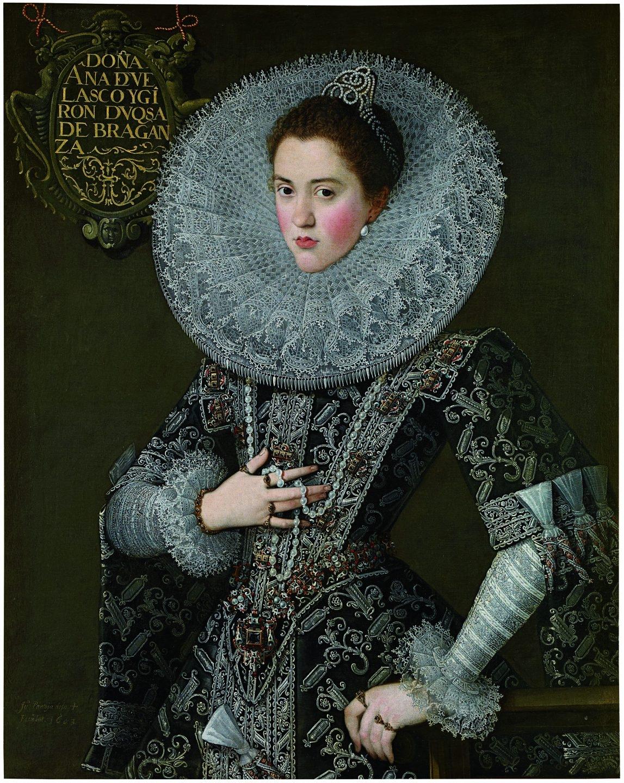 Juan Pantoja de la Cruz (1553-1608) Retrato de doña Ana de Velasco y Girón, duquesa de Braganza, con traje de corte, 1603