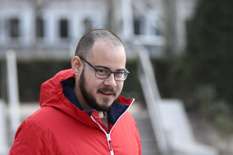 El rapero Pablo Hasel, en la Audiencia Nacional.