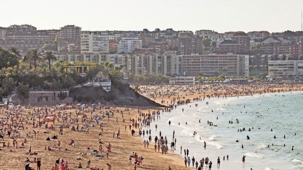 Playa del Sardinero de Santander.