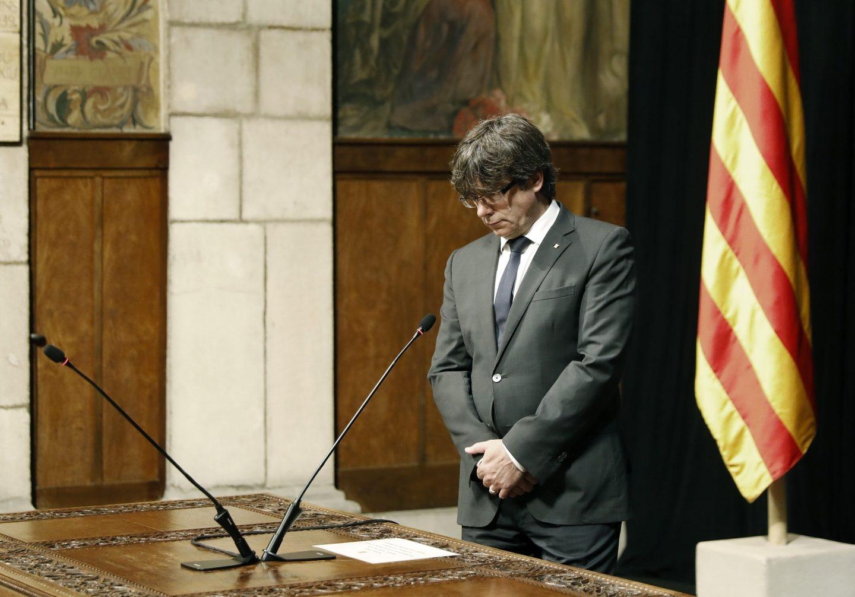 Carles Puigdemont, en el Palau de la Generalitat.