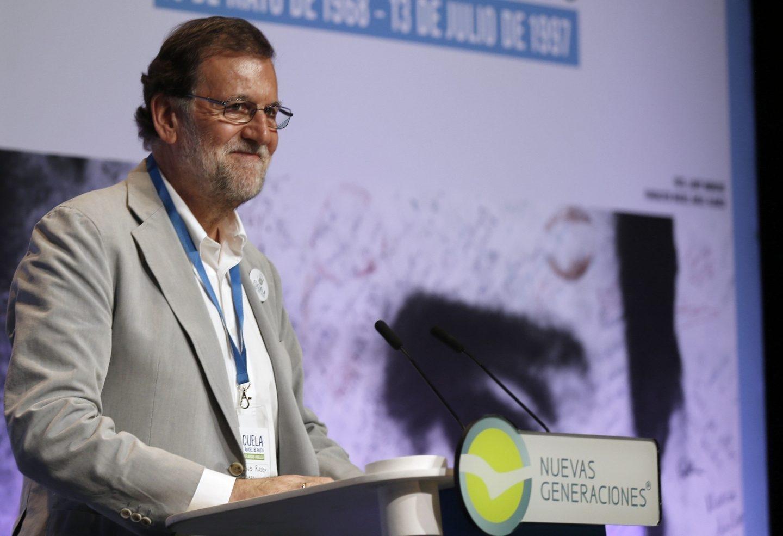 Rajoy ha hablado sobre la situación de Cataluña en un acto en Bilbao.