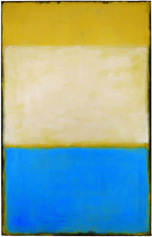 Mark Rothko (1903-1970) No. 6 (Yellow, White, Blue over Yellow on Gray) (N.º 6 [Amarillo, blanco, azul encima de amarillo sobre gris]), 1954
